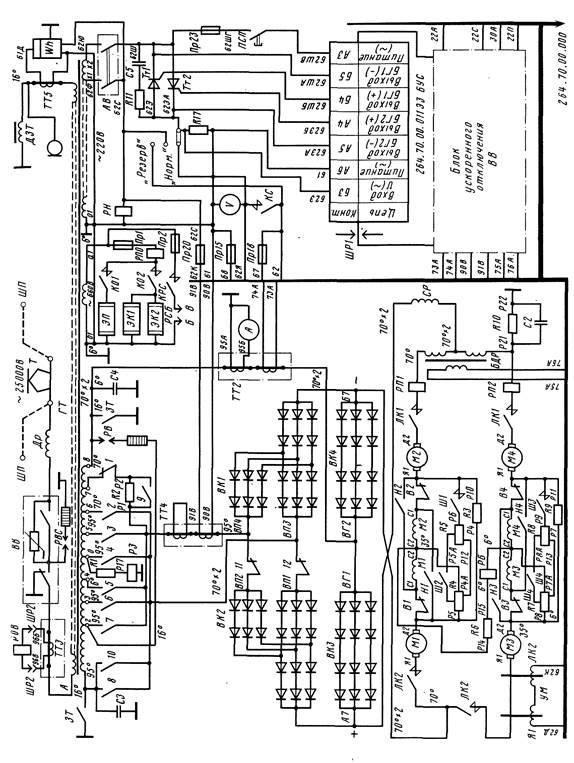 Схема силовых электрических